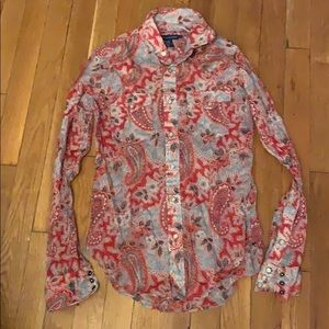 Ralph Lauren paisley button down